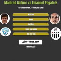 Manfred Gollner vs Emanuel Pogatetz h2h player stats