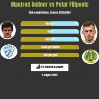 Manfred Gollner vs Petar Filipovic h2h player stats