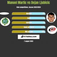 Manuel Martic vs Dejan Ljubicic h2h player stats