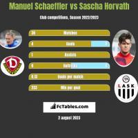Manuel Schaeffler vs Sascha Horvath h2h player stats