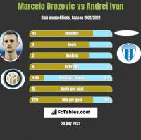 Marcelo Brozovic vs Andrei Ivan h2h player stats