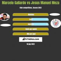 Marcelo Gallardo vs Jesus Manuel Meza h2h player stats