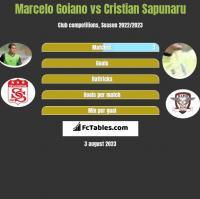 Marcelo Goiano vs Cristian Sapunaru h2h player stats