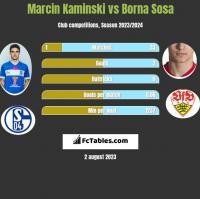 Marcin Kaminski vs Borna Sosa h2h player stats