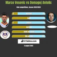 Marco Vesovic vs Domagoj Antolic h2h player stats