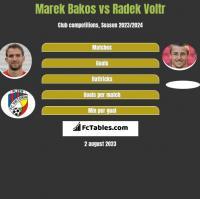 Marek Bakos vs Radek Voltr h2h player stats