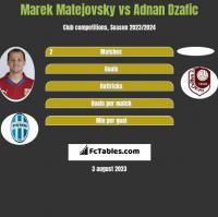 Marek Matejovsky vs Adnan Dzafic h2h player stats