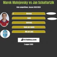 Marek Matejovsky vs Jan Schaffartzik h2h player stats