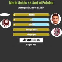 Marin Anicic vs Andrei Peteleu h2h player stats