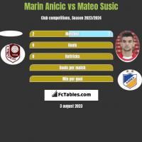 Marin Anicic vs Mateo Susic h2h player stats