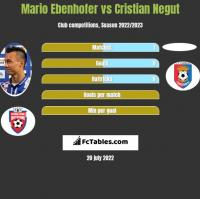Mario Ebenhofer vs Cristian Negut h2h player stats