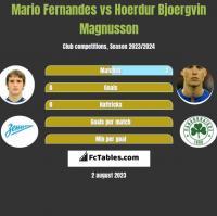 Mario Fernandes vs Hoerdur Bjoergvin Magnusson h2h player stats