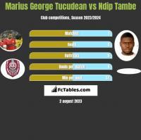 Marius George Tucudean vs Ndip Tambe h2h player stats