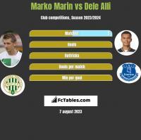 Marko Marin vs Dele Alli h2h player stats