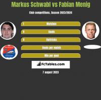Markus Schwabl vs Fabian Menig h2h player stats