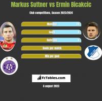 Markus Suttner vs Ermin Bicakcic h2h player stats