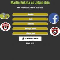 Martin Bukata vs Jakub Gric h2h player stats