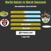 Martin Bukata vs Marek Hanousek h2h player stats