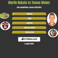 Martin Bukata vs Tomas Weber h2h player stats