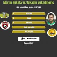 Martin Bukata vs Vukadin Vukadinovic h2h player stats