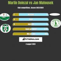 Martin Dolezal vs Jan Matousek h2h player stats