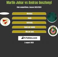 Martin Juhar vs Andras Gosztonyi h2h player stats