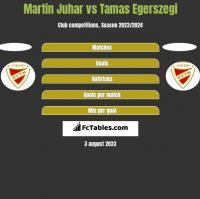 Martin Juhar vs Tamas Egerszegi h2h player stats