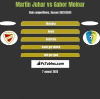 Martin Juhar vs Gabor Molnar h2h player stats