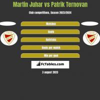 Martin Juhar vs Patrik Ternovan h2h player stats