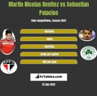 Martin Nicolas Benitez vs Sebastian Palacios h2h player stats
