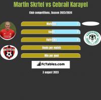Martin Skrtel vs Cebrail Karayel h2h player stats