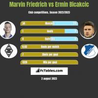 Marvin Friedrich vs Ermin Bicakcic h2h player stats
