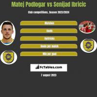 Matej Podlogar vs Senijad Ibricic h2h player stats