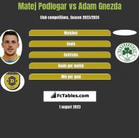 Matej Podlogar vs Adam Gnezda h2h player stats
