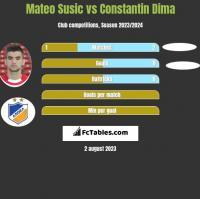 Mateo Susic vs Constantin Dima h2h player stats