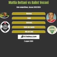 Mattia Bottani vs Balint Vecsei h2h player stats