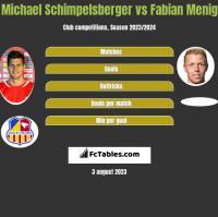 Michael Schimpelsberger vs Fabian Menig h2h player stats