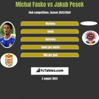Michal Fasko vs Jakub Pesek h2h player stats