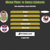 Michal Pinter vs Hamza Catakovic h2h player stats