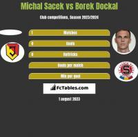 Michal Sacek vs Borek Dockal h2h player stats