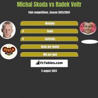 Michal Skoda vs Radek Voltr h2h player stats