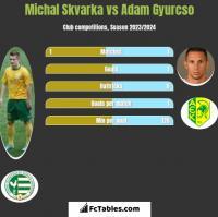 Michal Skvarka vs Adam Gyurcso h2h player stats