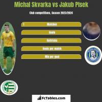 Michal Skvarka vs Jakub Plsek h2h player stats