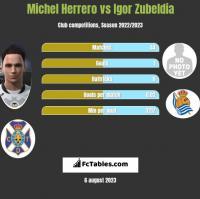 Michel Herrero vs Igor Zubeldia h2h player stats