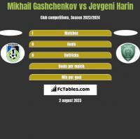Mikhail Gashchenkov vs Jevgeni Harin h2h player stats