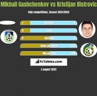 Mikhail Gashchenkov vs Kristijan Bistrovic h2h player stats