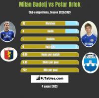 Milan Badelj vs Petar Brlek h2h player stats