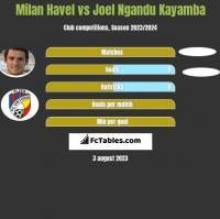 Milan Havel vs Joel Ngandu Kayamba h2h player stats