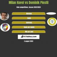 Milan Havel vs Dominik Plestil h2h player stats