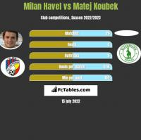 Milan Havel vs Matej Koubek h2h player stats